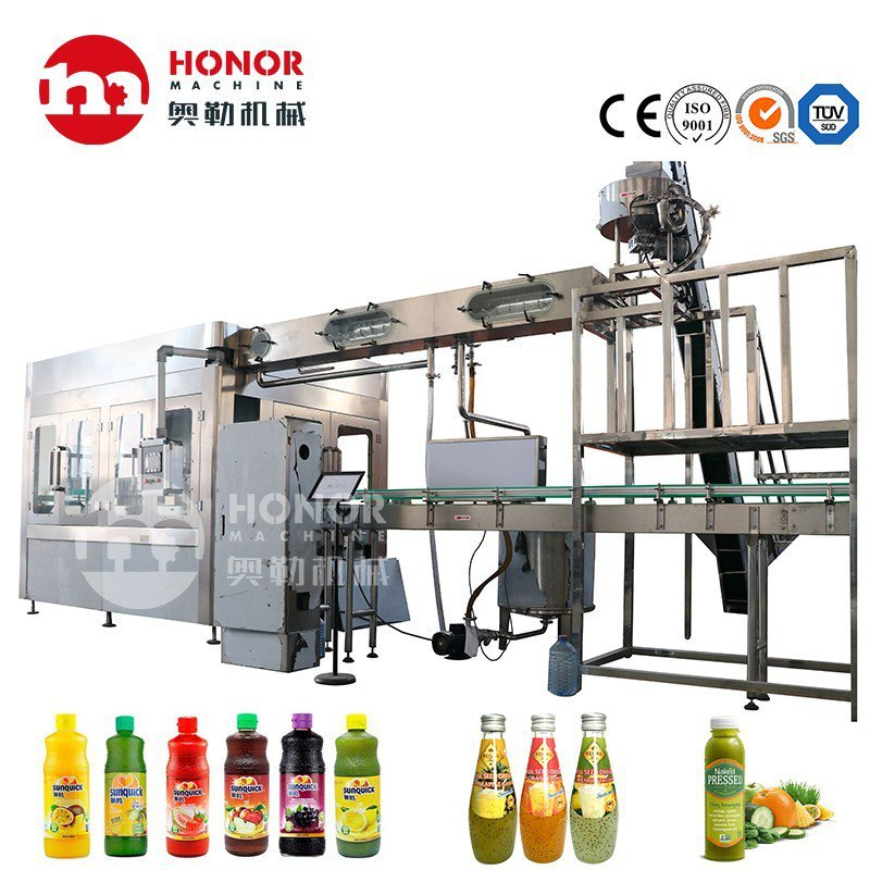 5000bph Automatic Bottle Liquid Soda Juice Water Beverage Filling Capping Bottling Machine