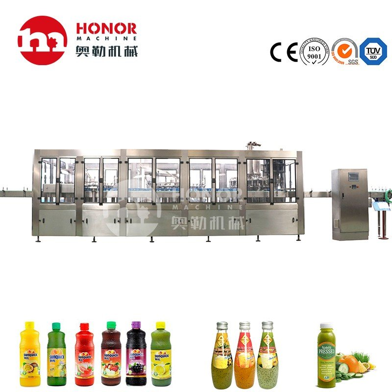 4000-6000bph Bottled Washing Filling Capping Coconut Drink Coffee Beverage Liquid Filling Machine