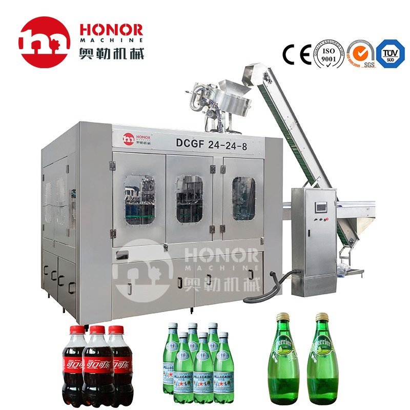 6000BPH Automatic Small Pet Bottle Soft Carbonated CSD Drink Beverage Energy Drink Bottling Filling Plant Packing Machine